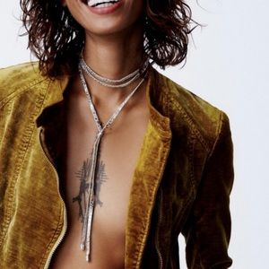Free people shimmer layered necklace